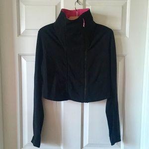 Lululemon Principal Cropped Moto Jacket Black Pink